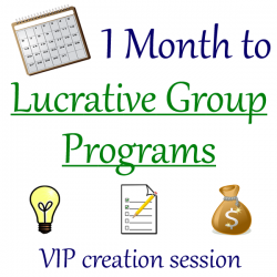 Group Program Creation VIP Session